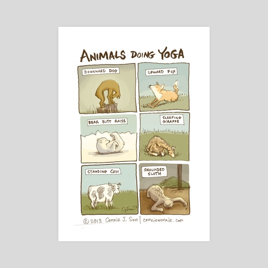 Animals Doing Yoga by Connie Sun