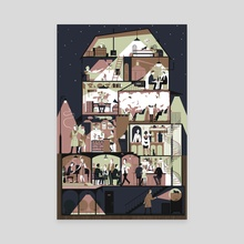 It's Night Time in the Big City - Canvas by Anine Bösenberg