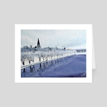 Fredericton Frost - Art Card by Jim Middleton