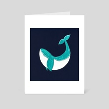 Blue Whale - Art Card by Tanya Doodles