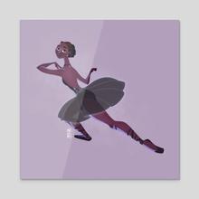 Black Swan - Acrylic by Marta Garcia