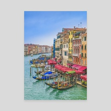 Aerial View Grand Canal of Venice, Italy - Canvas by Daniel Ferreira Leites