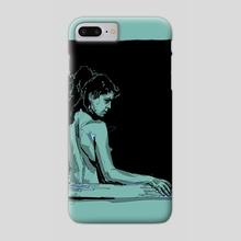 Mujer en la ventana - Phone Case by Nashaat Conde
