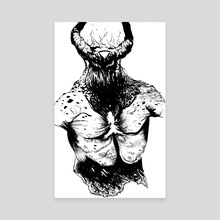 Demon - Canvas by Levi Gilbert