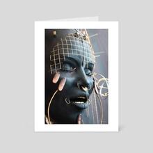 """Shambhalla 2"" - Sculpture Detail - Art Card by Pamela Ranya"