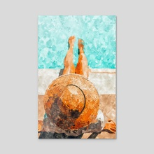 By The Pool All Day - Acrylic by 83 Oranges