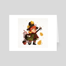 Little witch - autumn - Art Card by Anthony MOULINS