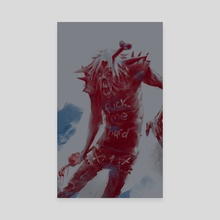 thirsty zombie boi - Canvas by michael katchan