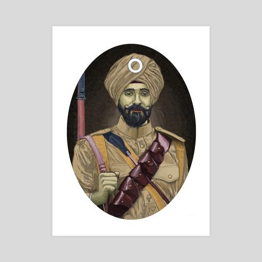 WW1 Sikh soldier  by Arturo Galindo