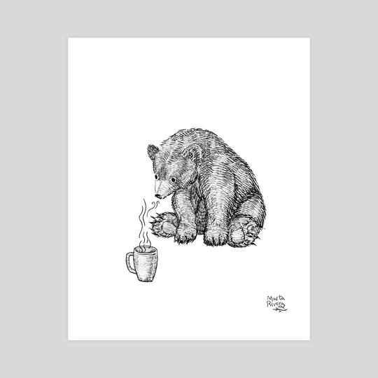 Cozy bear by Marta Rivera