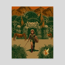 The Legend of Zelda - Mouth of the Dungeon - Canvas by Party in the Front