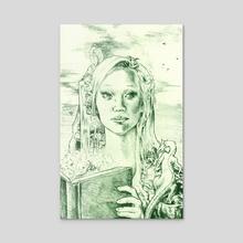 Phantasia in Green - Acrylic by Holly Carton