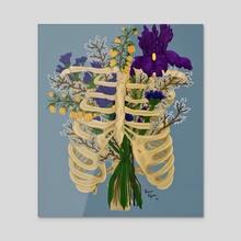 Breath - Acrylic by Breena Moonstruck