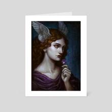 Pensee - Art Card by Caroline Jamhour