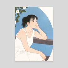 Natsu Tsubaki (Japanese stewartia) - Canvas by Sai Tamiya