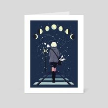 Moon Phase - Art Card by Natalia Toledo
