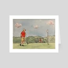 Columbia Park Golf Course - Art Card by JOSHUA MORTENSON