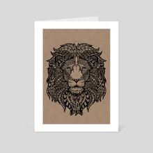 Mandala Lion - Art Card by Masha K