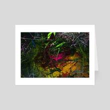 oil+water [yellow] - Art Card by amanda herz