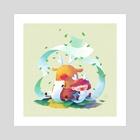 wish list - Art Print by Oil Little
