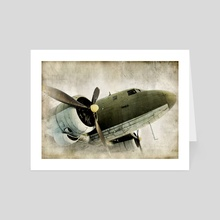 Vintage Prop Plane - Art Card by ivo ivanov