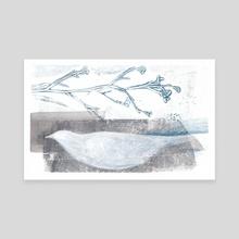 White bird - Canvas by Nadia Murash