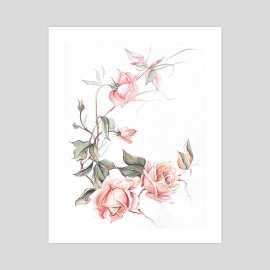 Rose Boom Flower Decor by Aurora Borealis
