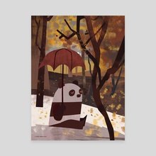 Panda Is Ready For Autumn - Canvas by Greg Abbott