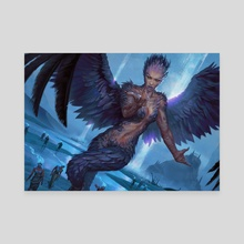 MTG Threnody Singer - Canvas by Hugh Pindur