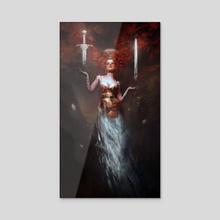 THE MAGICIAN OF THE MOUNTAIN OF DEATH - Acrylic by Bastien Lecouffe Deharme