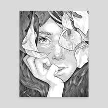 lily - Canvas by Greg Moody