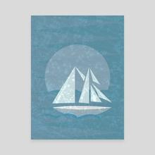Sailing II - Canvas by Illusorium