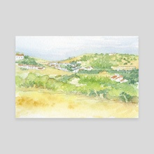 Burgau village - Algarve, Portugal - Canvas by Carl Conway