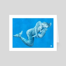 Breastfeeding Mermaid  - Art Card by Lukas Ø. Damgaard