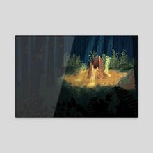 Dark Forest - Acrylic by Ann Fry