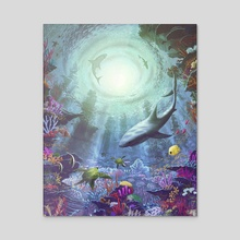 Luminous Descent - Acrylic by Jeffrey Smith