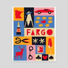 FX Fargo - Canvas by Maria Ku