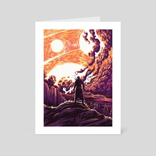 Through Time and Space - Art Card by Lazare Gvimradze