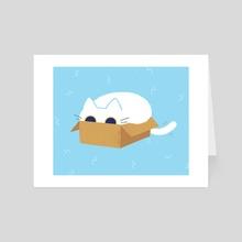 Box Cat - Art Card by Bree Lundberg