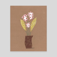 Three Red Flowers - Canvas by Pbody Dsign