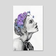 Yearning - Acrylic by Sandra Acosta