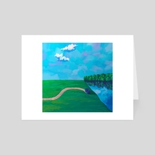 Road to the lake - Art Card by Pop Mircea