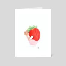 Strawberry - Art Card by Aline Juliette