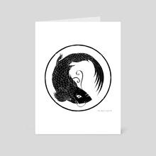 Koi Fish - Art Card by Tom Charlesworth