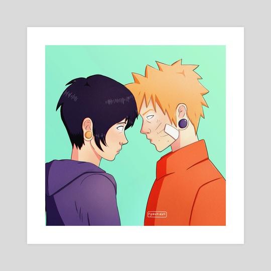 Naruto X Hinata An Art Print By Ryu Kiddo Inprnt