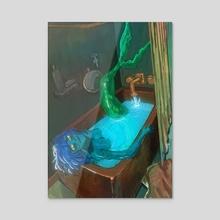 Mermaid Bath - Acrylic by maria