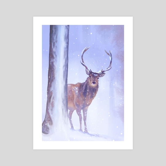Winter Deer by Sophie Eves