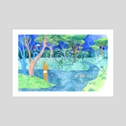 Swimming Hole - Art Print by Lisa Hanawalt