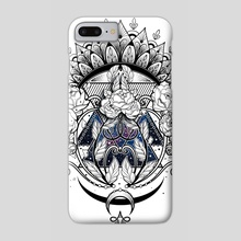 Half colored flowers 03 - Phone Case by Saphiriart