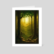 Forest - Art Card by Pedro Rodriguez